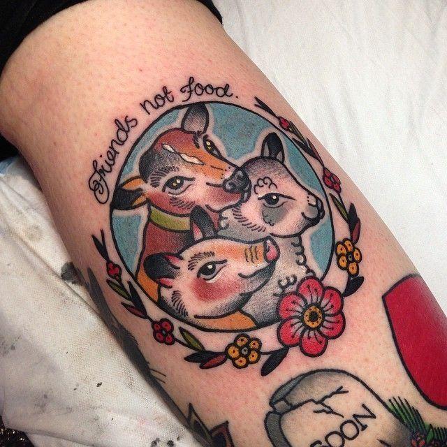 Eight Beautiful Tattoos For Vegans Vegan Tattoo Vegetarian Tattoo Food Tattoos