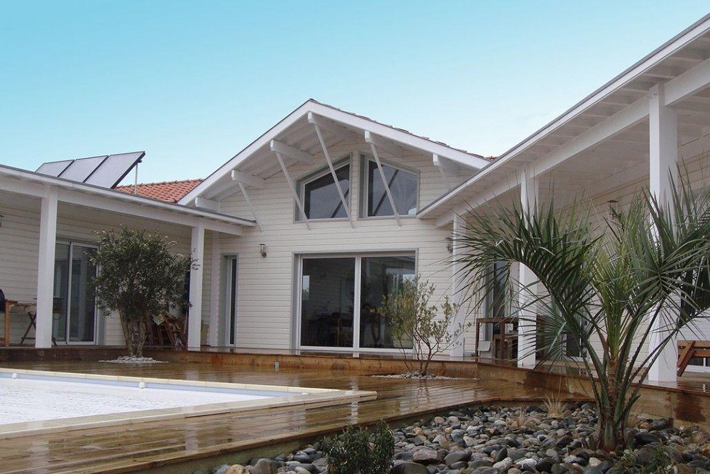 Bardages blanc en Pin YACHTING - maison style bord de mer et - maison bardage bois couleur