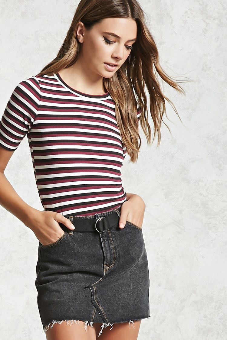 Contemporary Striped Tee | Forever 21 - 2000108646