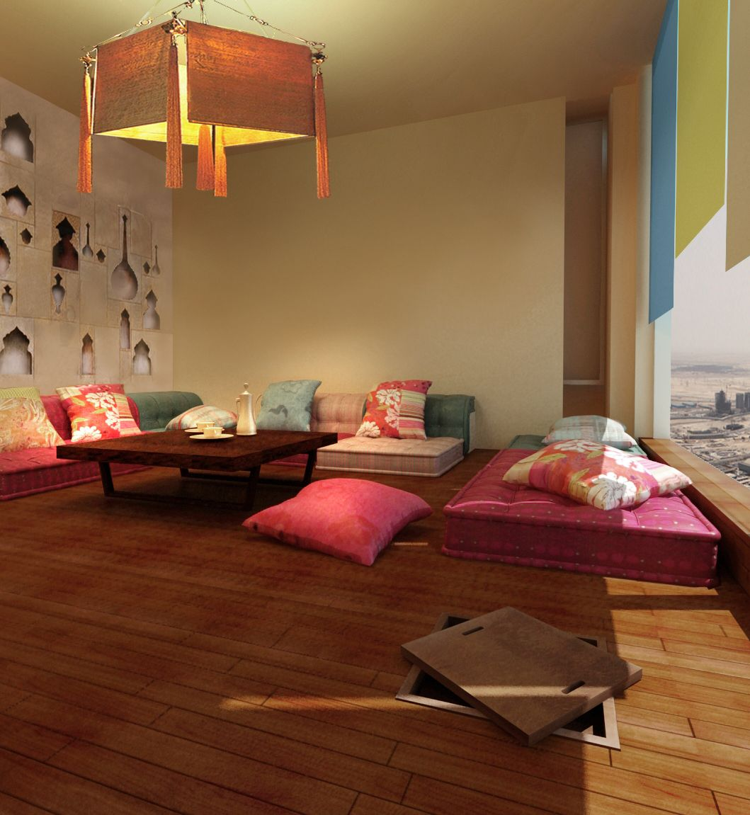 arabic style living room ideas interior decor of family in modern by draw link