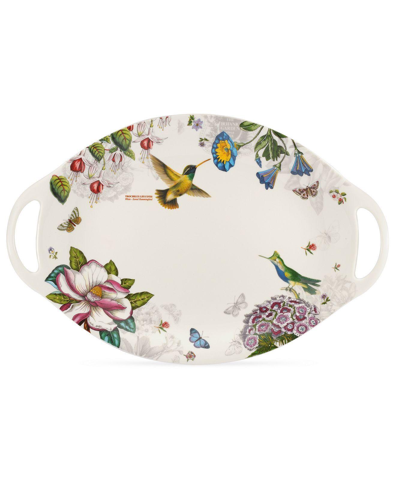 Portmeirion Dinnerware Botanic Hummingbird Platter Serveware