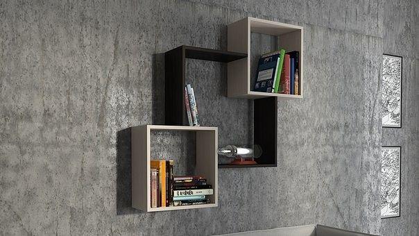 Полки для книг на стену необычные (с изображениями) | Идеи ...