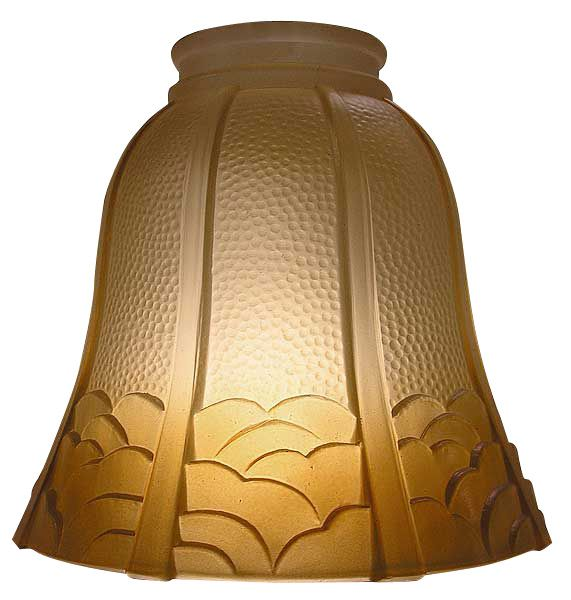 Arts Crafts Amber Glass Light Shade Inch Fitter For Dining Room Fixture