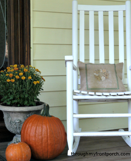 My Front Porch All Decorated for Fall | Through My Front Porch