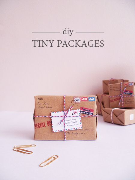 DIY : Tiny Packages
