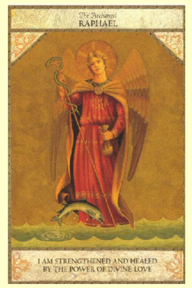 "St. Raphael the Archangel's name means ""Medicine of God"" in Hebrew!  ---He is…"