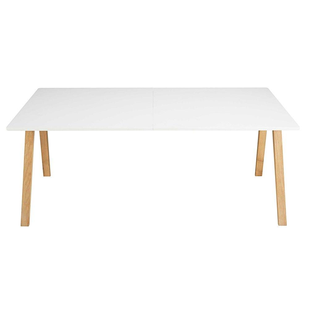 Table à manger extensible 8 à 10 personnes blanche L200/245 ...