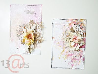 13arts: Aquarelle Backgrounds Effect with Foil by Olga Heldwein