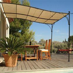 Tonnelle Adossee Luberon 3 X 3 M Avec Toile Tonnelle Adossee Pergola Couverte Terrasse Jardin