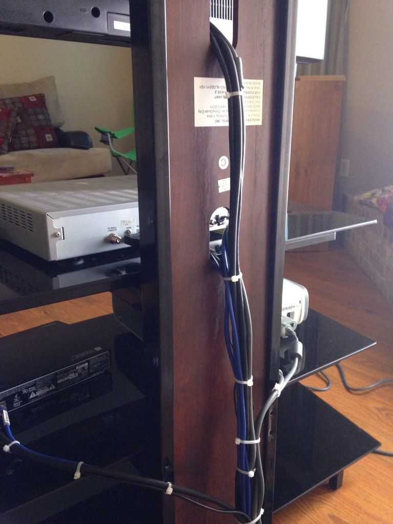 Cable Ties Tidying Up A Home Theater Setup Management Installing Wiring Best