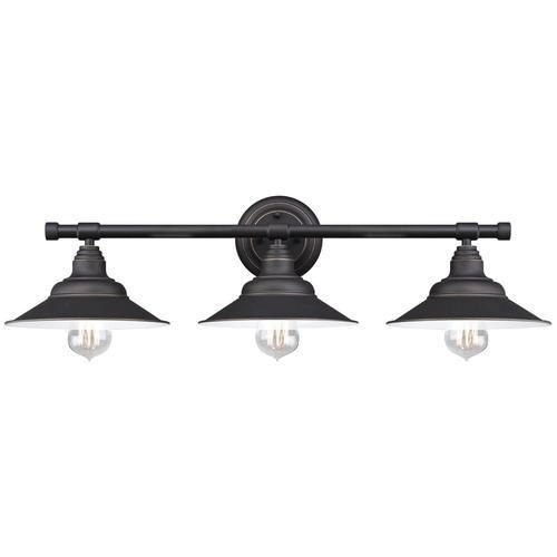 $50 Westinghouse Deansen Oil Rubbed Bronze 3 Light Vanity Light Dimensions:  H:7.68 Pictures Gallery