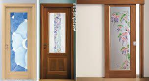 Risultati immagini per porte scorrevoli con vetro decorato ...