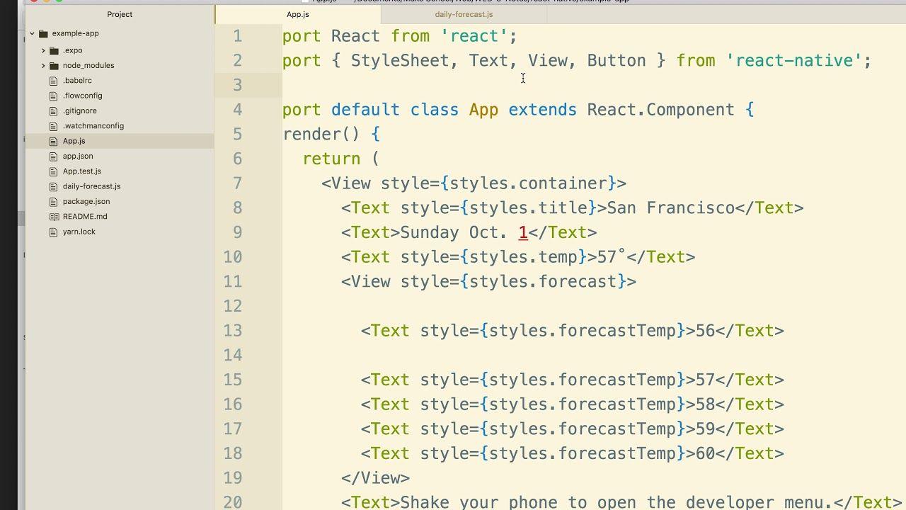 06 nesting components class app web design react native