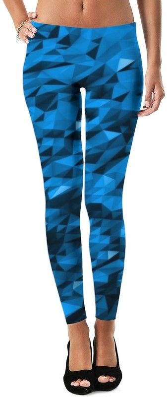 Limited Edition Ariel Winter Reflective Blue Diamonds Custom Rave Party Style Leggings by Willy Badu.