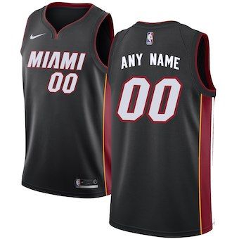 6cee118022e9 Miami Heat Nike Swingman Custom Jersey Black - Icon Edition