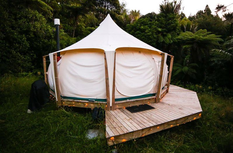 Could you live happily in a luxurious tent house with a tiki-hut-style & Could you live happily in a luxurious tent house with a tiki-hut ...