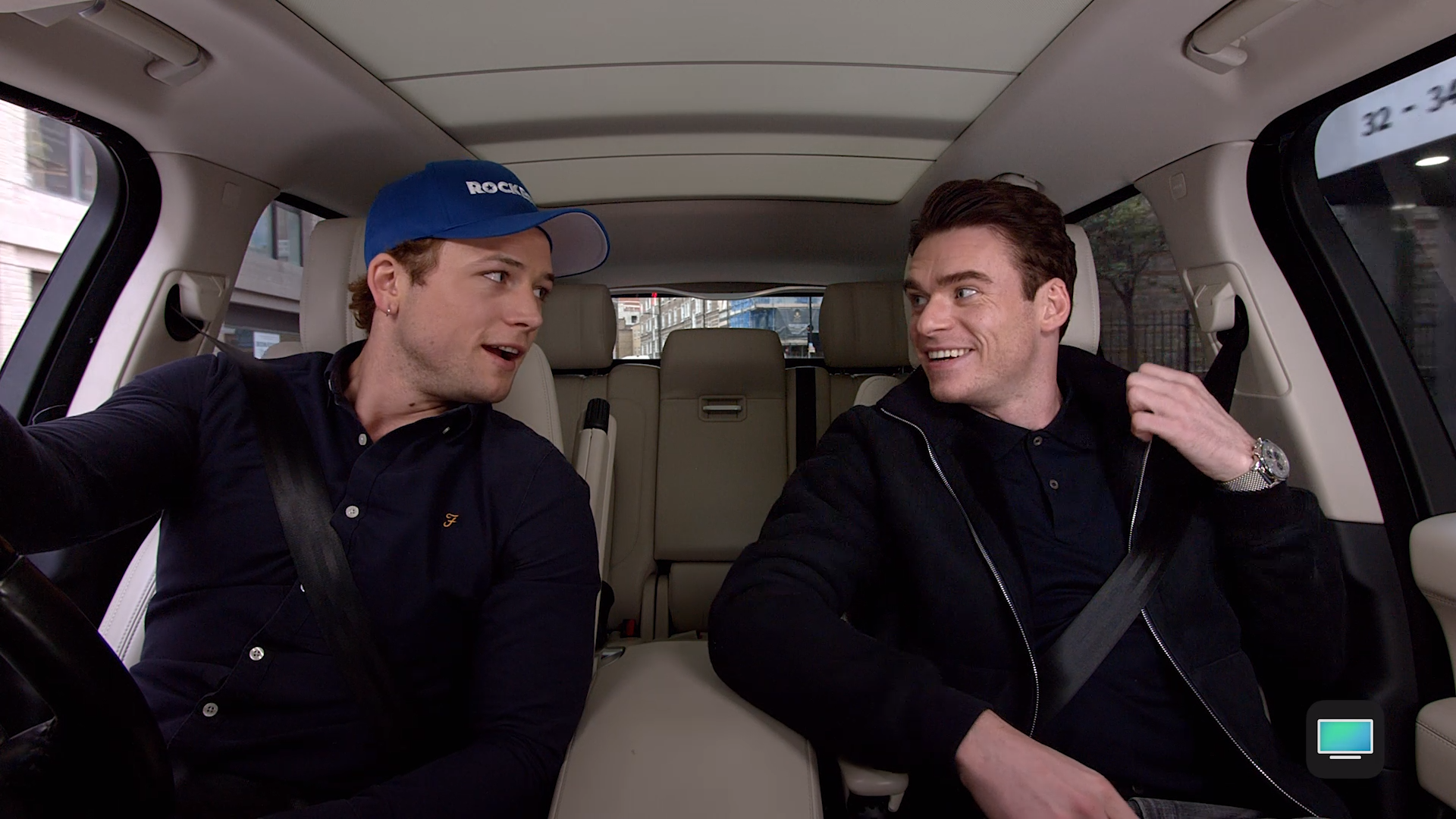 Taron Egerton And Richard Madden Hit The Road In London For A