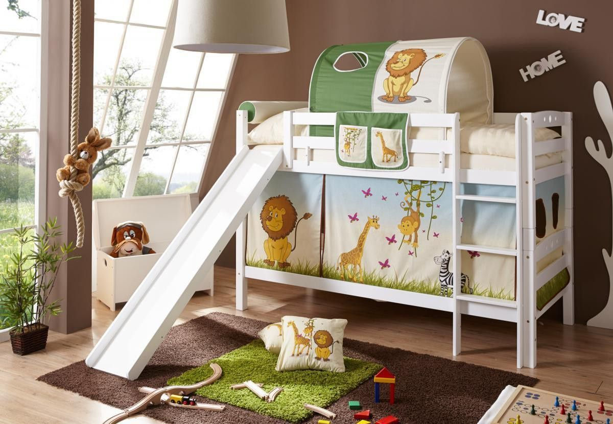 Ticaa Etagenbett mit Rutsche Lupo Buche massiv weiß Safari Jetzt bestellen unter: https://moebel.ladendirekt.de/kinderzimmer/betten/etagenbetten/?uid=7a1c1704-d0e2-5212-9a60-342007ee13fe&utm_source=pinterest&utm_medium=pin&utm_campaign=boards #möbel #etagenbetten #kinderzimmer #einrichtung #baby #betten
