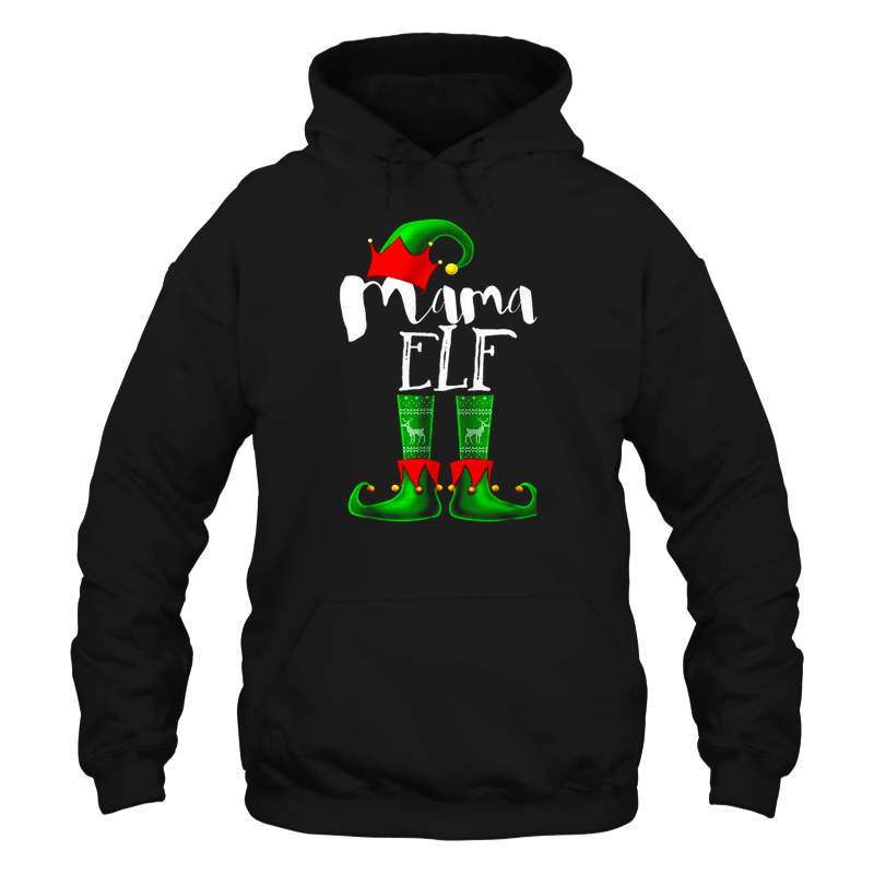 Mama Elf Matching Family Christmas Pajama Shirt, Pullover