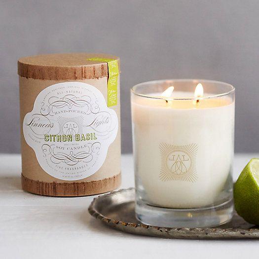 Linnea's Lights Candle, Citron Basil