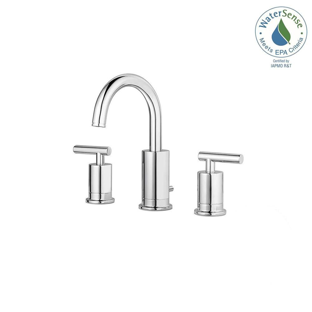 Pfister Contempra 8 In Widespread 2 Handle Bathroom Faucet In Polished Chrome Bathroom Faucets Widespread Bathroom Faucet Bathroom Sink Faucets