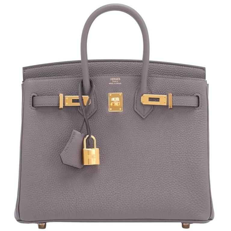 85269a12608 Hermes Etain Baby Birkin 25cm Togo Tin Grey Gold Hardware Summer 1 ...