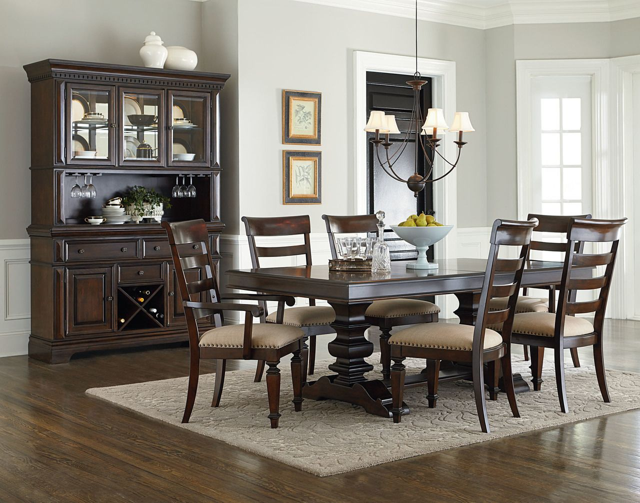 Charleston Trestle Dining Set W Hutch And Buffet By Standard Furniture