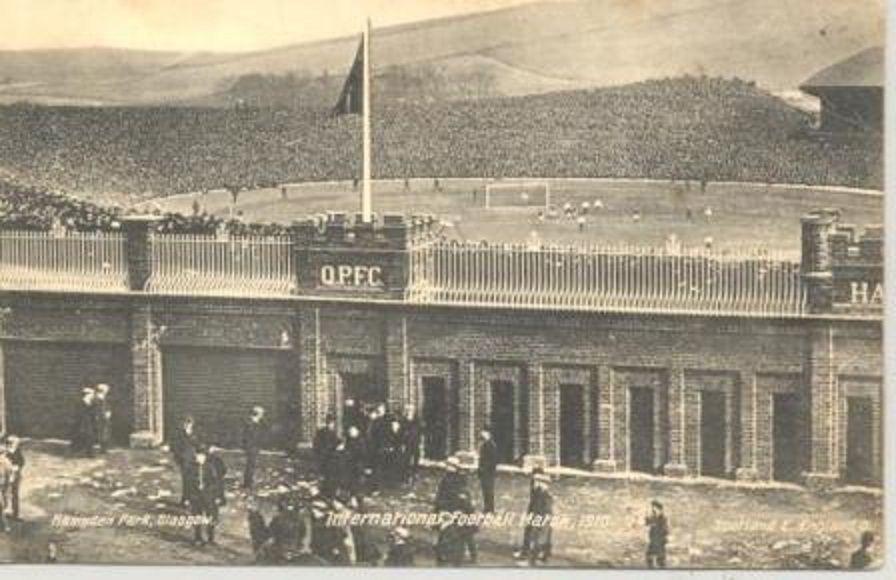 Hampden Park Stadium Glasgow, Scozia,1910.