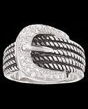 """Montana Silversmiths Ladies' """"Karly"""" Buckle Rope Ring - www.fortwestern.com"""