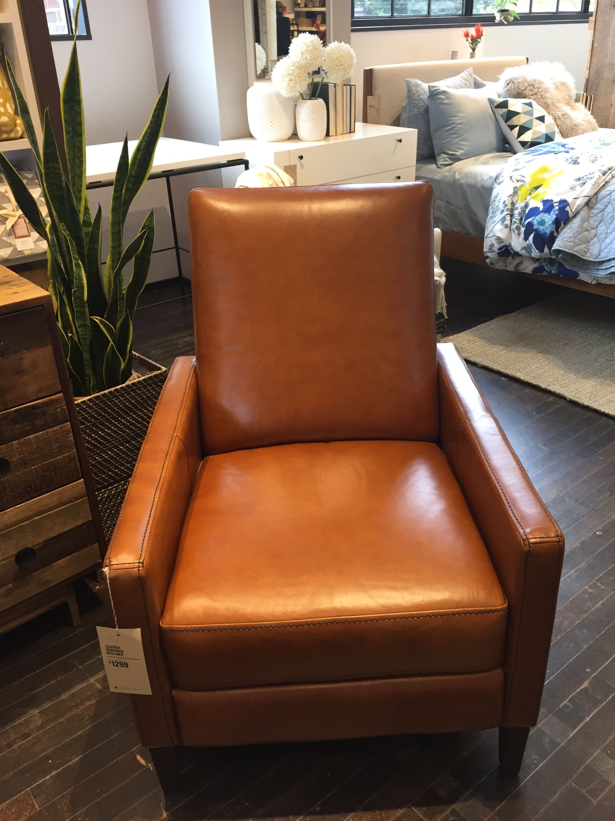Leather Sedgwick Recliner West Elm