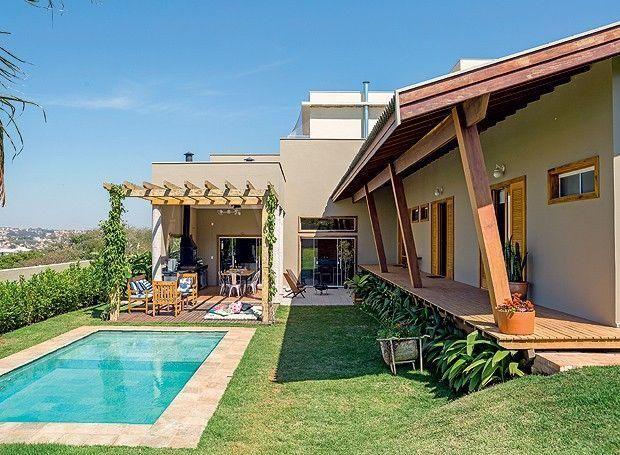 Casa De Campo 95 Modelos Projetos E Fotos Incriveis Jardins De Casas Casa De Campo Arquitetura