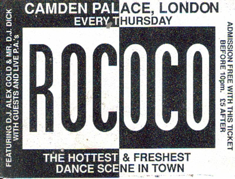 Rococo - Early Rave Flyers g r a f f i k Pinterest Rococo - typography flyer