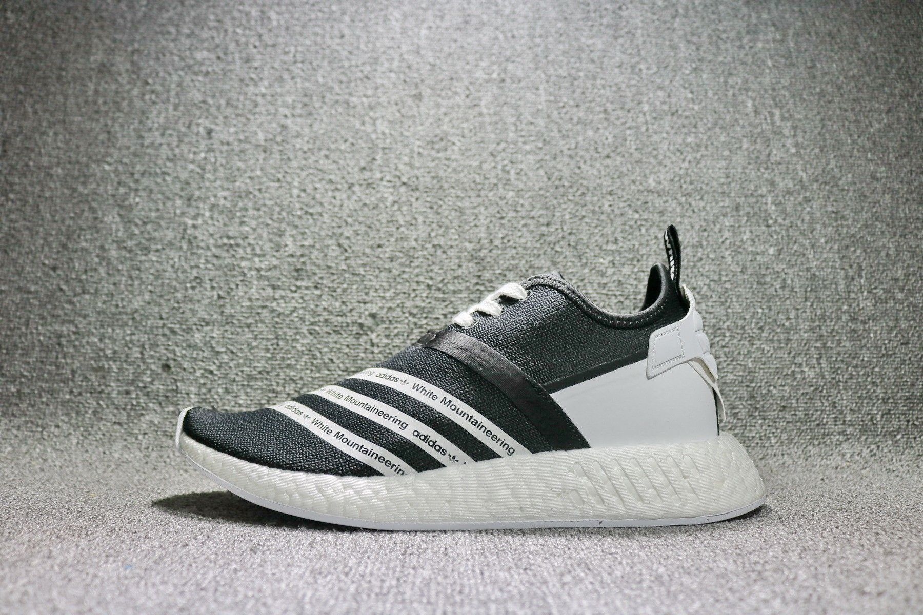 fa87f611b6e28 White Mountaineering x adidas NMD R2 Black White CG3648