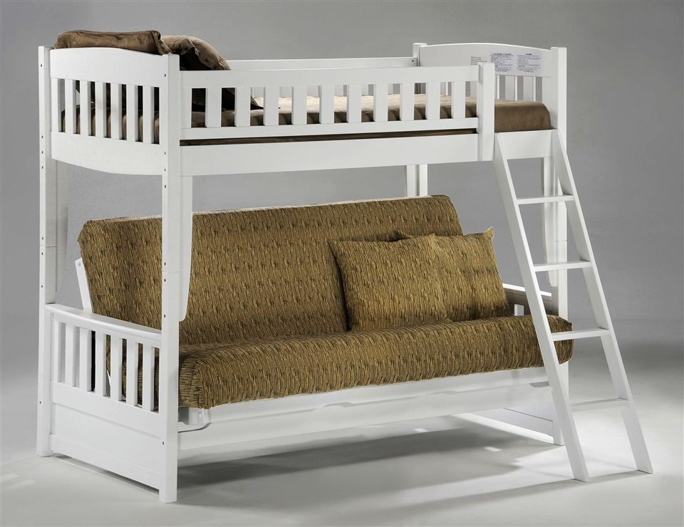 White Futon Loft Bed Google Search For The Home Pinterest