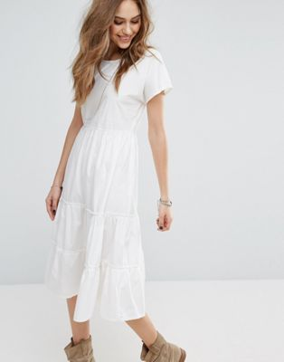 Vero Moda Tiered Midi Dress