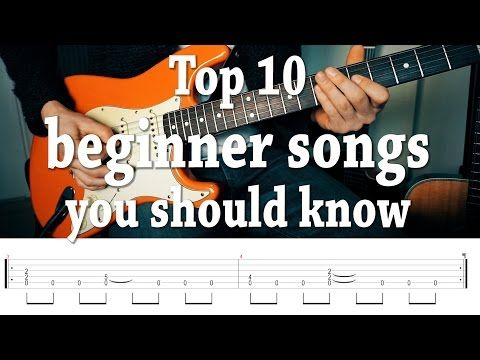 Top 10 Fun Easy Guitar Songs You Should Know With Tabs Youtube
