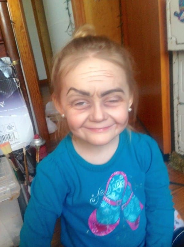 Three Year Old Girl Gets A Hilarious Old Lady Makeover Old