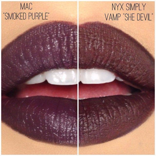 mac smoked purple lipstick - photo #13