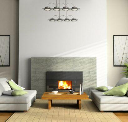 kamine-modern-bioethanol-kamin-wohnzimmer-couchtisch-sofas DECO - moderne luxus kamine