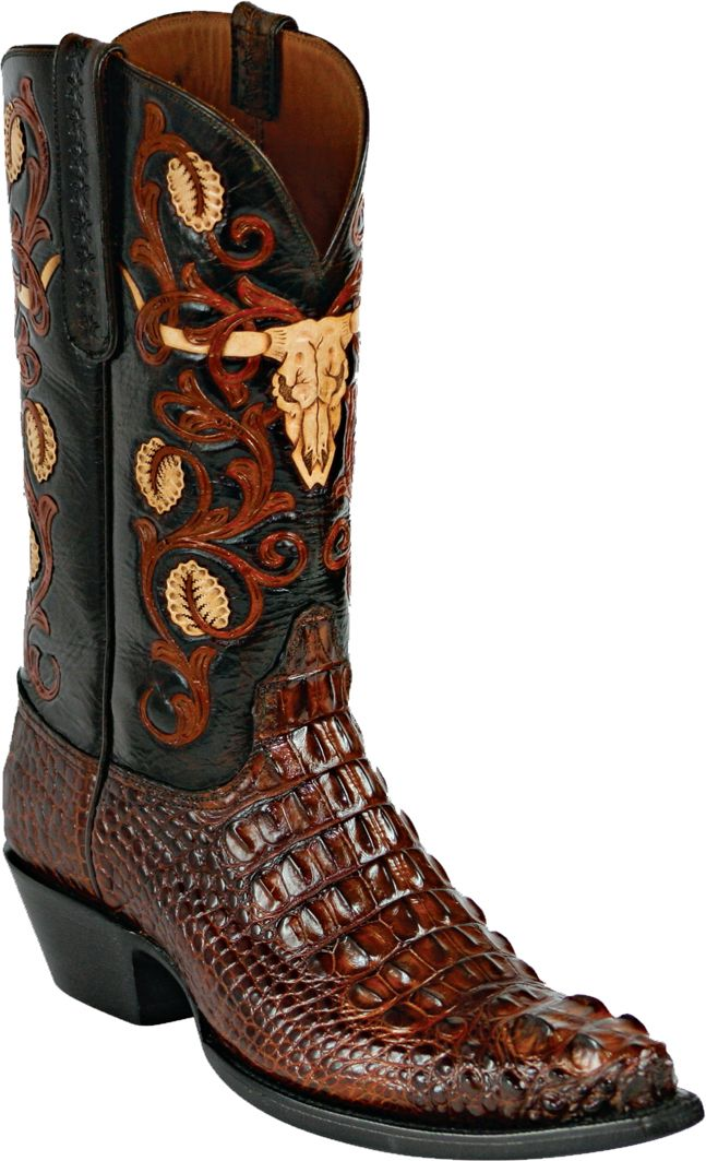 5afa5501b06 Womens Black Jack Boots Burnished Barnwood Hornback Alligator Custom ...