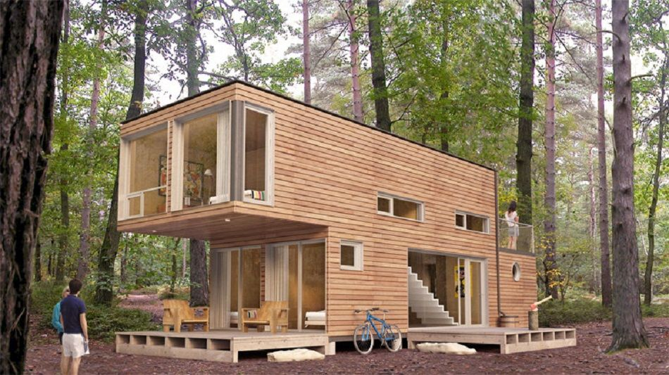 Shipping Containers Into Homes | CONTAINER   WOODEN CLAD CONTAINER HOME.