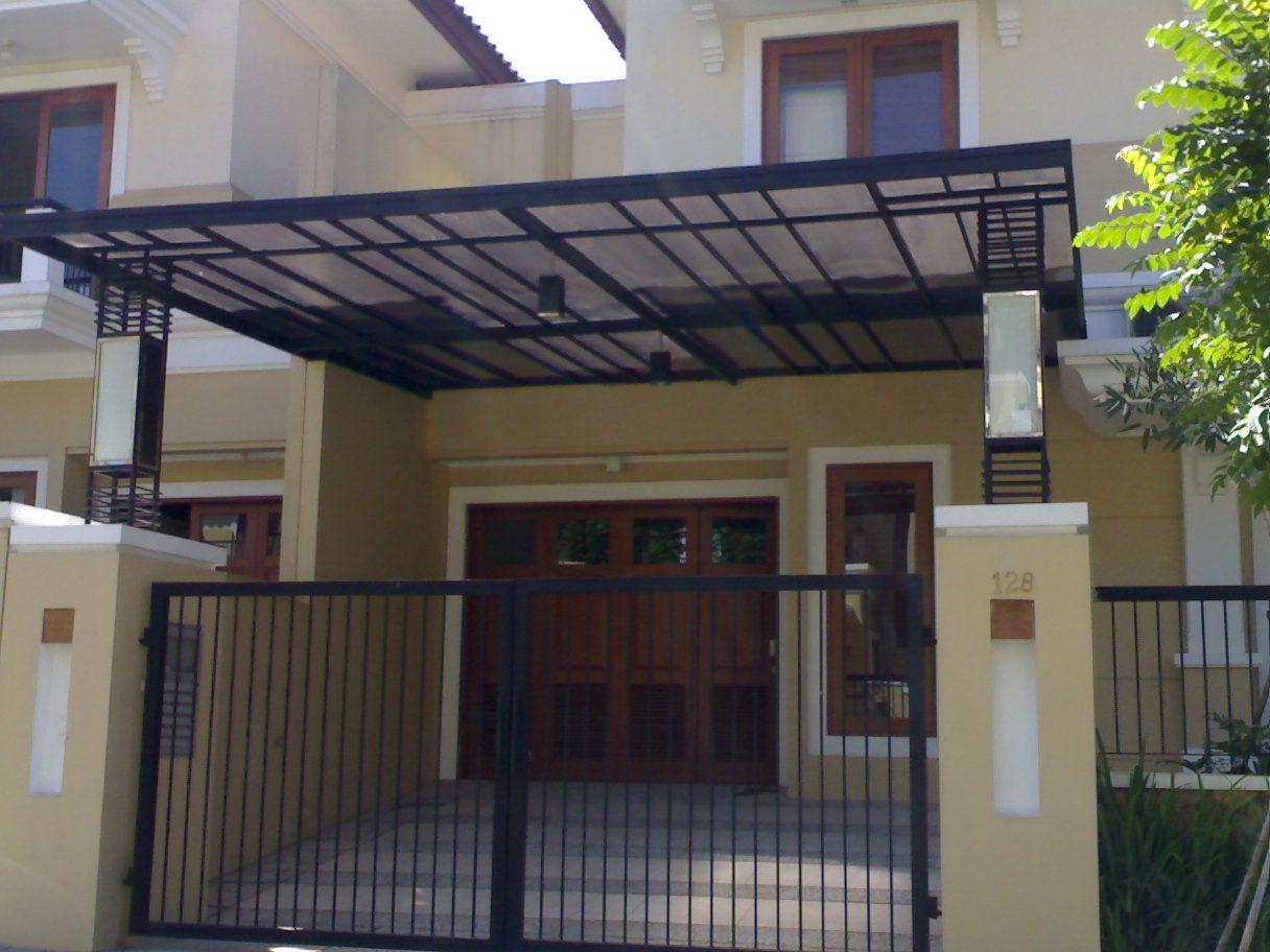 pasang canopy baja ringan depok gambar pagar kanopi rumah minimalis 0812 1932 6162 ...