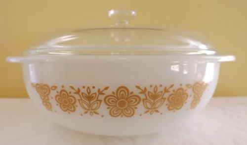 The Holy Grail!!! But I can't bring myself to pay that much for it.  RARE-Vintage-Pyrex-Butterfly-Gold-024-with-lid-HTF