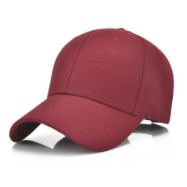 7f6b85af6a7 Summer Snapback for Men Women Solid Blank Baseball Caps Dad Hat Breathable  Adjustable