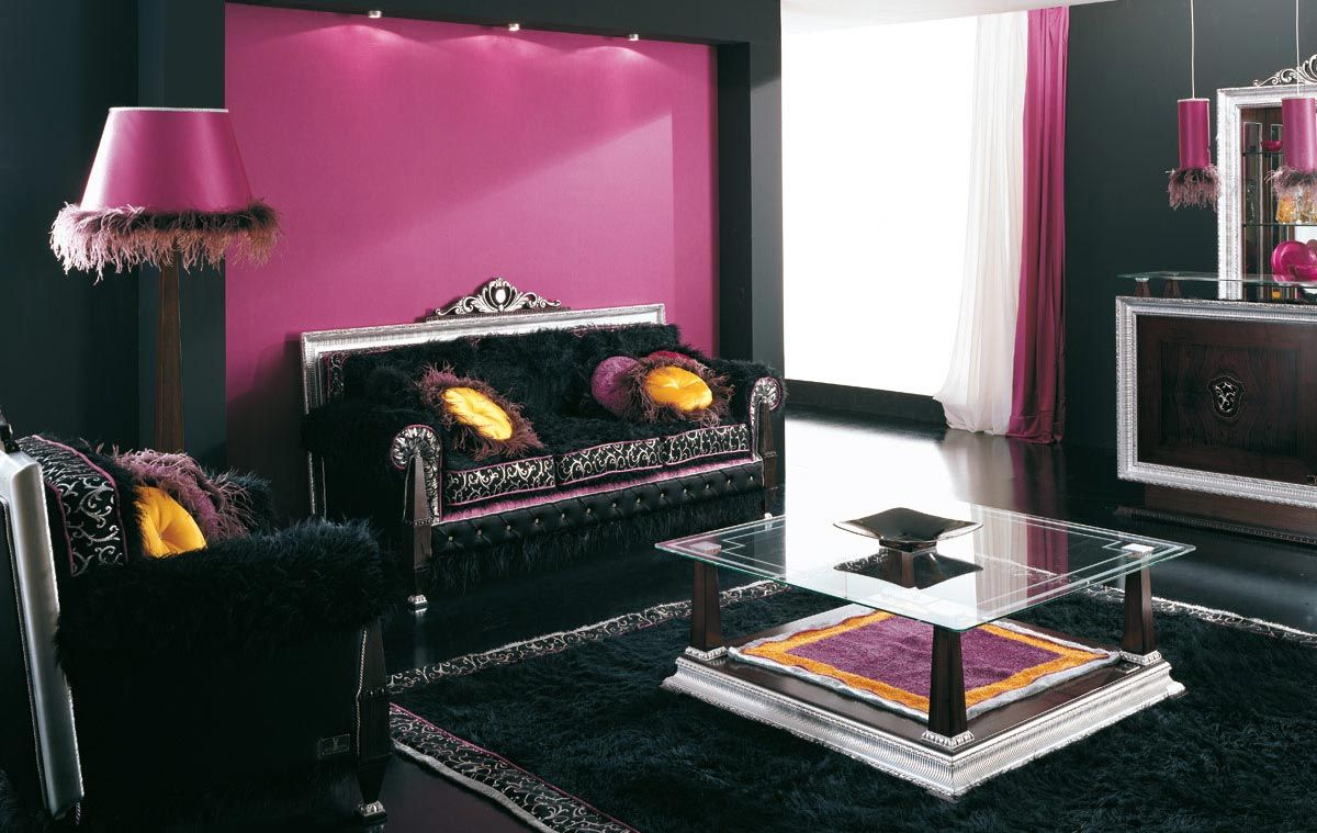 Decorating ideas amazing read online purple living room for Black and purple living room ideas