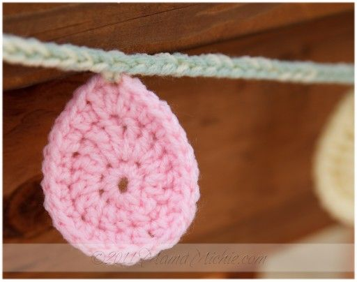 Using This Pattern To Make Easter Egg Hair Accessories Crochet