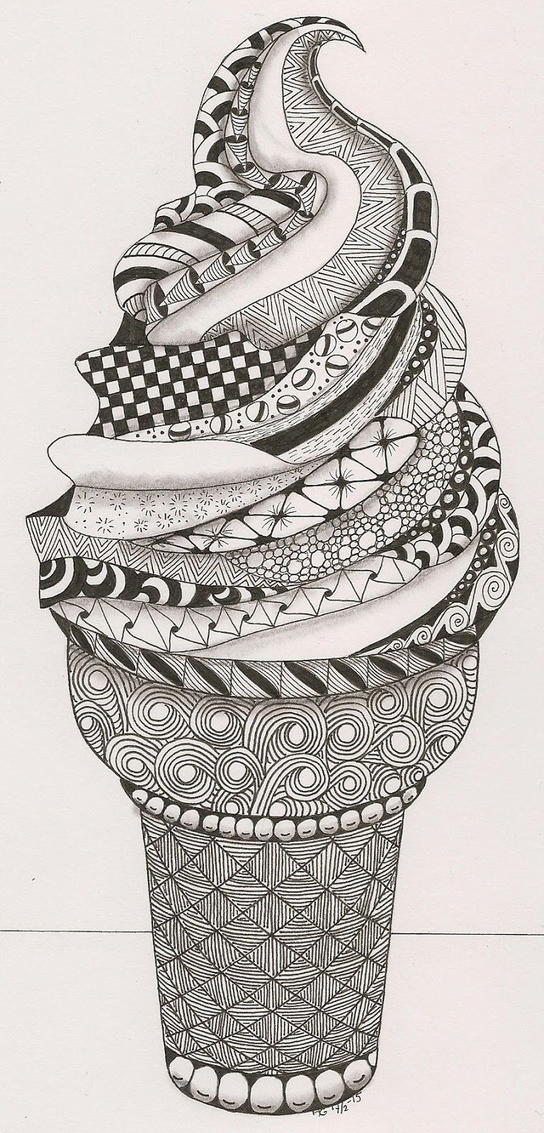 How To Zentangle In 2020 Estampas Textura Visual E Doodles