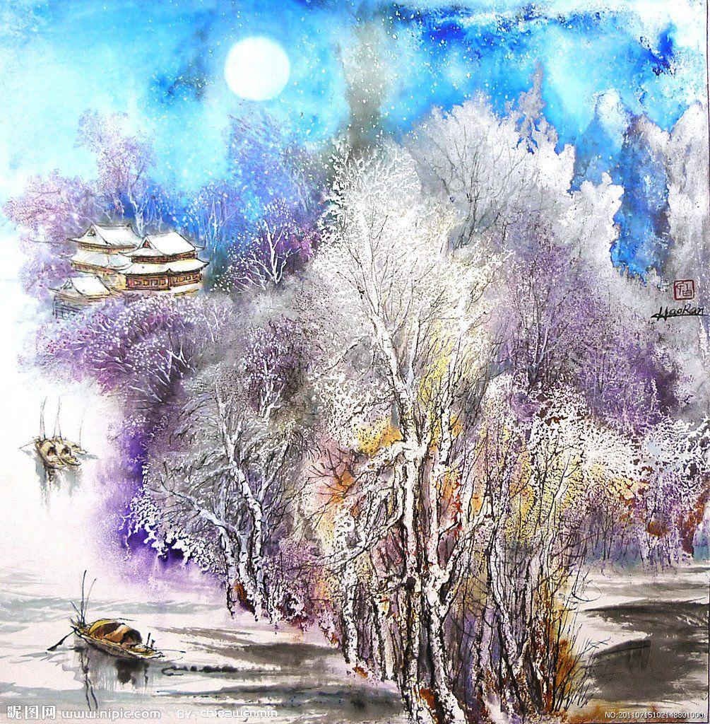 Черно белую, зима картинки акварелью