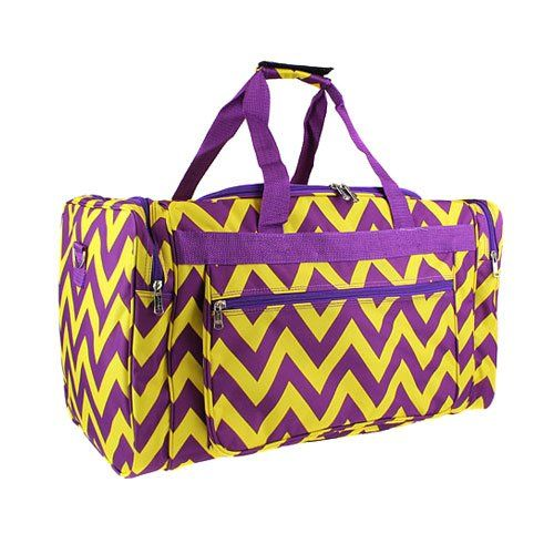 Purple Wavey Chevrons Sports Bag