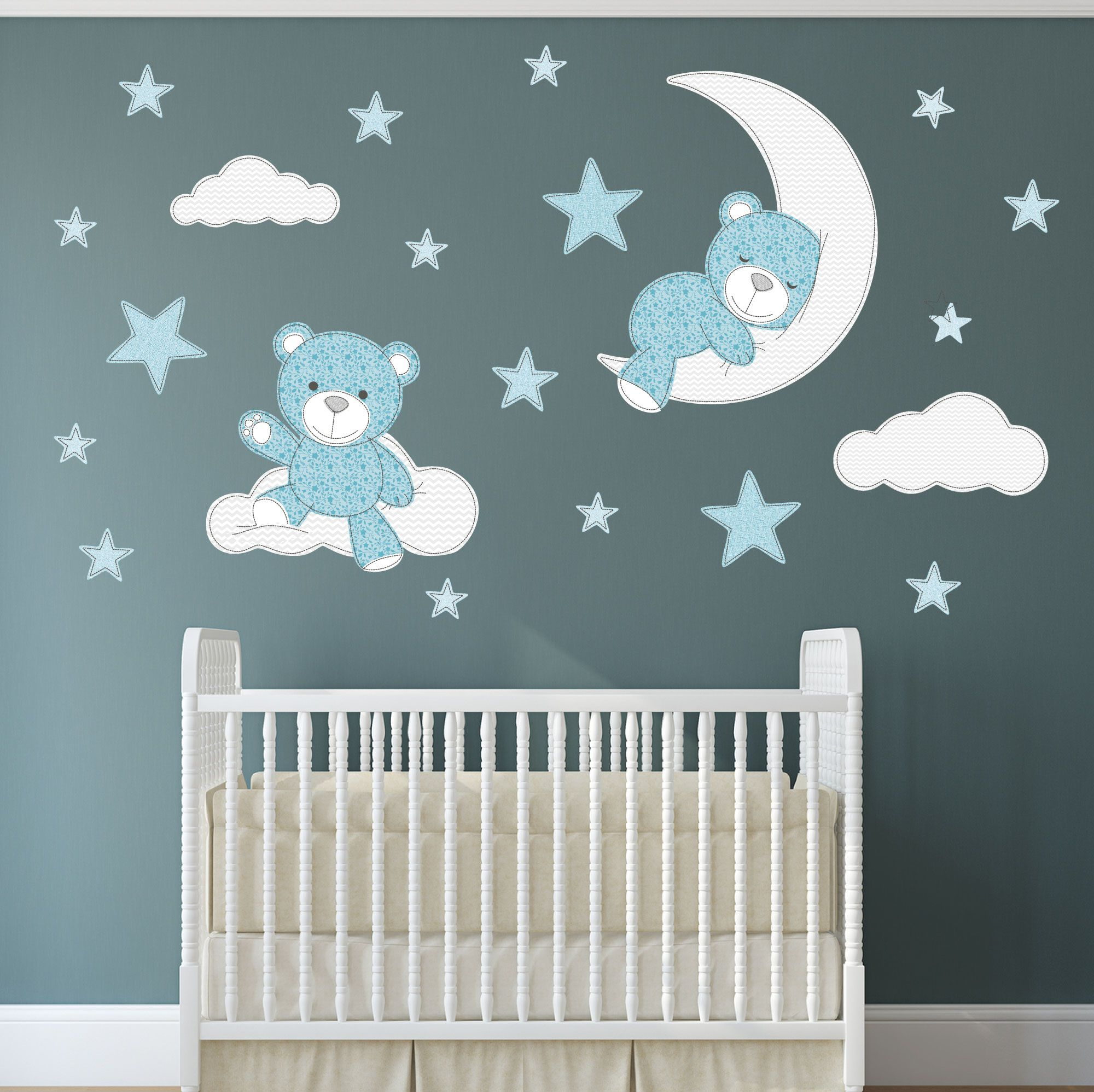 Teddy Bear Nursery Wall Decals Simply Peel And Stick The Enchanted